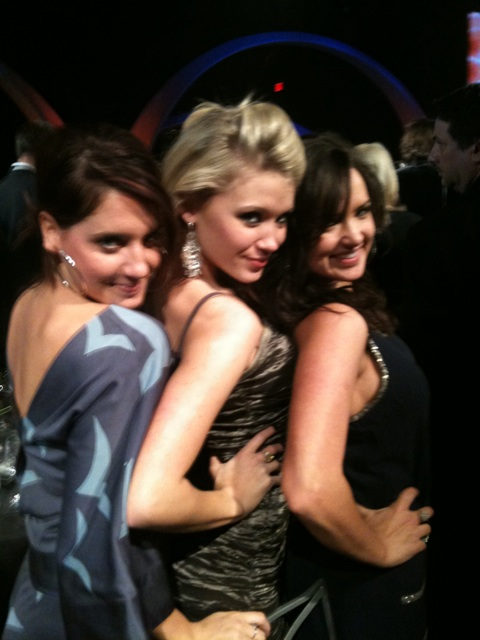 Charity, Claire and Liz at CMT Artists of the Year