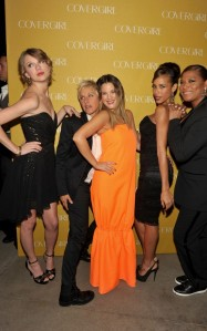 Taylor Swift, Ellen DeGeneres, Drew Barrymore, Queen Latifah