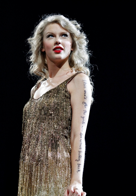 The Speak Now Tour Arm Lyrics The Swift Agency