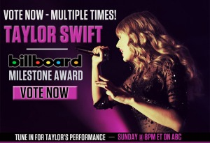 Vote for Taylor for the BBMA Milestone Award