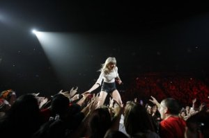 Taylor Swift performs at the Houston Toyota Center on May 16, 2013. Photo by Nick de la Torre for the Houston Chronicle.