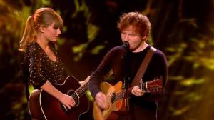 Taylor Swift and Ed Sheeran perform on the finale of Britain's Got Talent - 2013-06-08