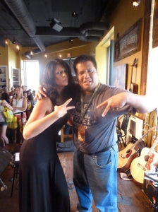 Meeting Mallary Hope at her Fan Club Party. Pucketts, Nashville 2013-06-07