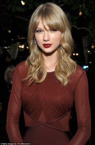WEST HOLLYWOOD, CA - NOVEMBER 21: Taylor Swift attends the Weinstein Company's holiday party at RivaBella on November 21, 2013 in West Hollywood, California. (Photo by John Sciulli/Getty Images for The Weinstein Company)