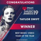 2019 iHeartRadio Awards: Taylor wins Tour & Video of the Year