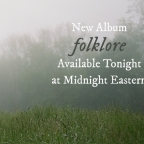 "This just in: Taylor's eight studio album ""folklore"" drops tonight at midnight!"